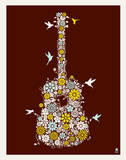 Flower Guitar Serigraph by  Methane Studios