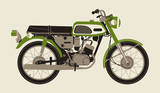 1970 Green Motorcycle Serigraph by  Methane Studios