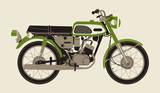 1970 Green Motorcycle Serigraph by  Methane Studios