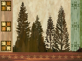 Pine Trees Lodge I Prints by Tania Bello