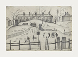 Houses In Broughton, 1937 Premium Giclee Print by Laurence Stephen Lowry