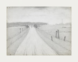 Country Road, 1925 Premium Giclee Print by Laurence Stephen Lowry