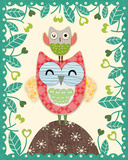 Folksy Friends I Print by Clara Wells