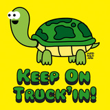 Keep on Truck'in! Affischer av Todd Goldman