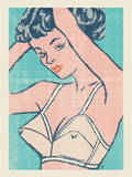 Veronica Blue Serigraph by  Methane Studios