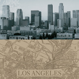 LA Map I Prints by  The Vintage Collection