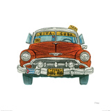 Cuban Taxi Giclee Print by Barry Goodman