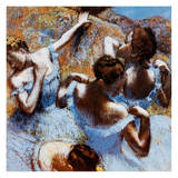 Blue Ballerinas Print by Edgar Degas