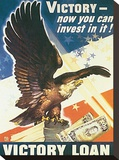 Victory - Now You Can Invest In It! 1945 Stretched Canvas Print by Dean Cornwell