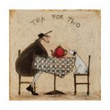 Thé pour deux Reproduction procédé giclée par Sam Toft