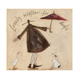 Lovely Weather for Ducks Giclee Print by Sam Toft