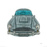 Aston Martin Reproduction procédé giclée par Barry Goodman