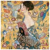Woman with fan Art par Gustav Klimt