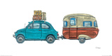 Getaway Car Blue Giclee Print by Barry Goodman