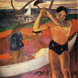 Homme a la Hache Posters by Paul Gauguin