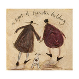 A Spot of Handie Holding Giclee Print by Sam Toft