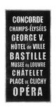 Paris Destination Giclee Print by Barry Goodman
