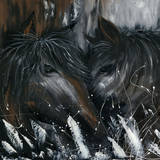 Horses 3 Prints by Nathalie Poulin