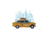 Taxi New York Giclee Print by Barry Goodman