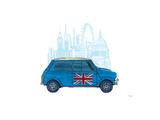 Mini London Gicléetryck av Barry Goodman