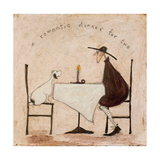 A Romantic Dinner for Two Giclee Print by Sam Toft