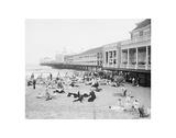 Steel Pier, Atlantic City, NJ, c. 1904 Giclée-Druck