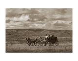 Stagecoach Run Giclée-tryk af Barry Hart