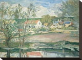 Cezanne - Oise Valley Stretched Canvas Print