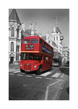 Red Bus London Giclée-tryk af Christopher Bliss