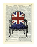 Union Jack Chair Giclée-tryk af Marion Mcconaghie