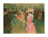 At the Moulin Rouge: The Dance, 1890 Giclee Print by Henri de Toulouse-Lautrec