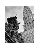 Mercury Statue and Chrysler Building Giclee Print by Christopher Bliss