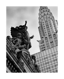 Mercury Statue and Chrysler Building Giclée-tryk af Christopher Bliss