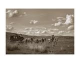 Sombrero Stagecoach Giclée-tryk af Barry Hart