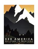 See America - Welcome to Montana II Giclee Print