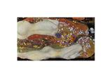 Water Serpents II, 1907 Giclée-tryk af Gustav Klimt