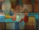 Abstract Intersections Panels II Stretched Canvas Print by Karin Connolly