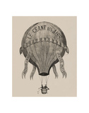 Le Geant des airs Ascension de Monsieur Armand Petit, between 1860-1880 Giclee Print