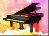 Colorful Piano Stretched Canvas Print by Irena Orlov