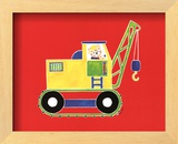 Cat in a Crane Posters by Shelly Rasche