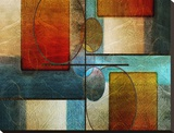 Abstract Intersections Panels I Stretched Canvas Print by Karin Connolly