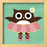 Ballerina Owl Prints by Nancy Lee