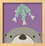 Peek-a-Boo Otter Prints by Yuko Lau