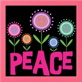 Peace Flowers Prints by Louise Carey