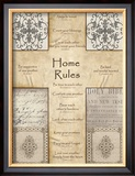 Home Rules Cross Poster by Lisa Wolk
