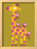 The Giraffe and the Monkeys Posters by Nathalie Choux