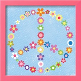 Peace Flowers I Posters by Louise Carey