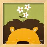 Peek-a-Boo IX, Lion Poster by Yuko Lau