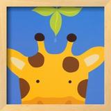 Peek-a-Boo VII, Giraffe Print by Yuko Lau