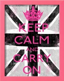 Keep Calm And Carry On Print by Louise Carey